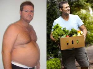 Joe Cross, Antes e Depois de uma Dieta Detox de 60 Dias